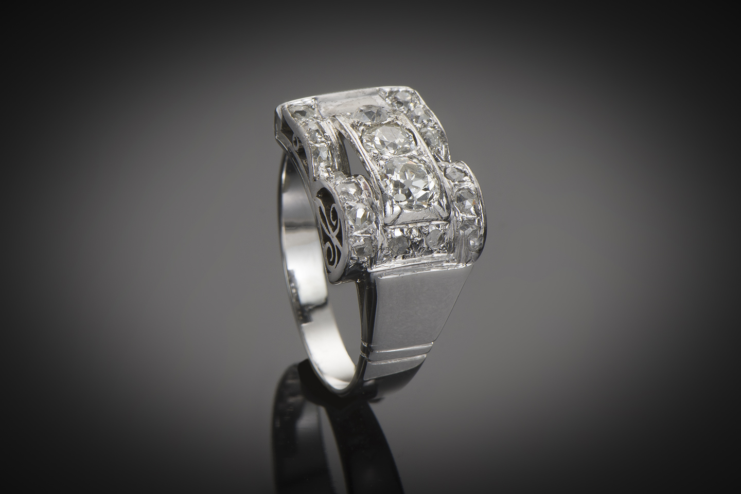 Bague Art Déco diamants (1,20 carat)-1