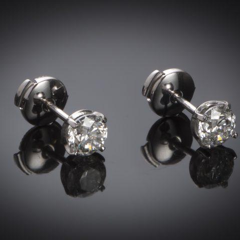 Boucles d'oreilles diamants (1,81 carat – Certificat IGI)