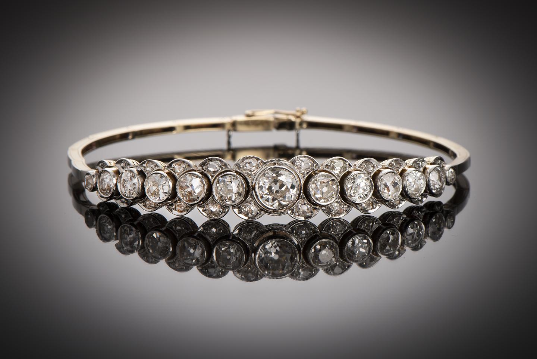 Bracelet diamants (3,80 carats) vers 1920-1