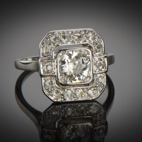 Bague Art Déco diamants (centre 0,90 carat)