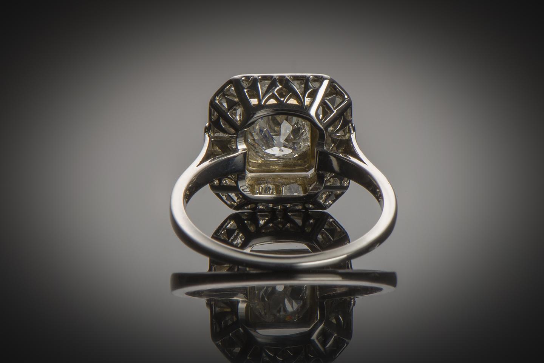 Bague Art Déco diamants (centre 0,90 carat)-2