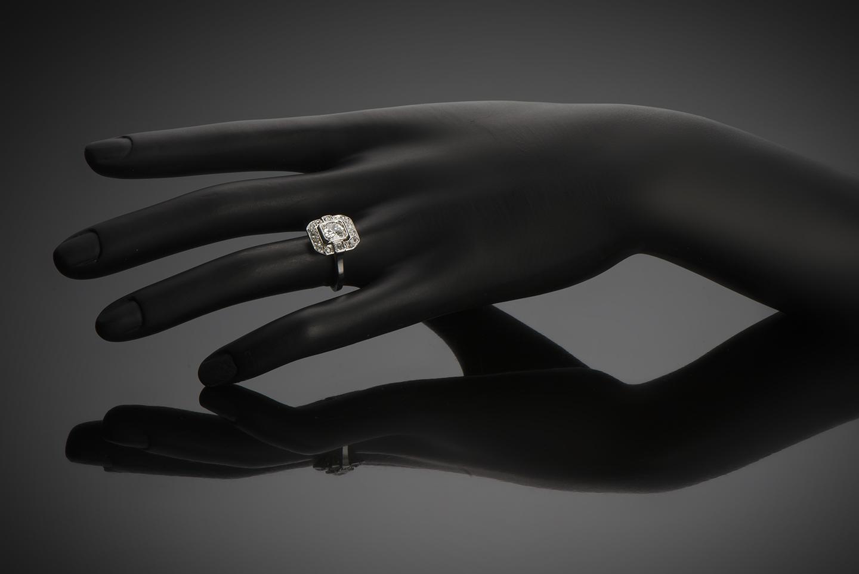Bague Art Déco diamants (centre 0,90 carat)-3
