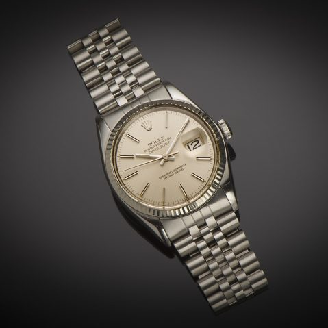 Montre Rolex Datejust vintage 1978 acier or gris