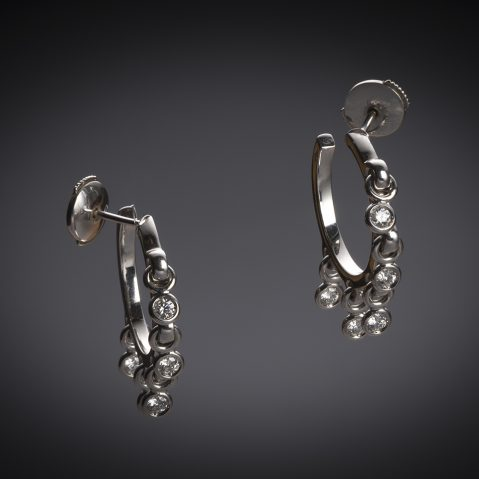 Boucles d'oreilles Dior diamants