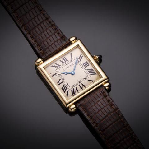 Montre Cartier obus or