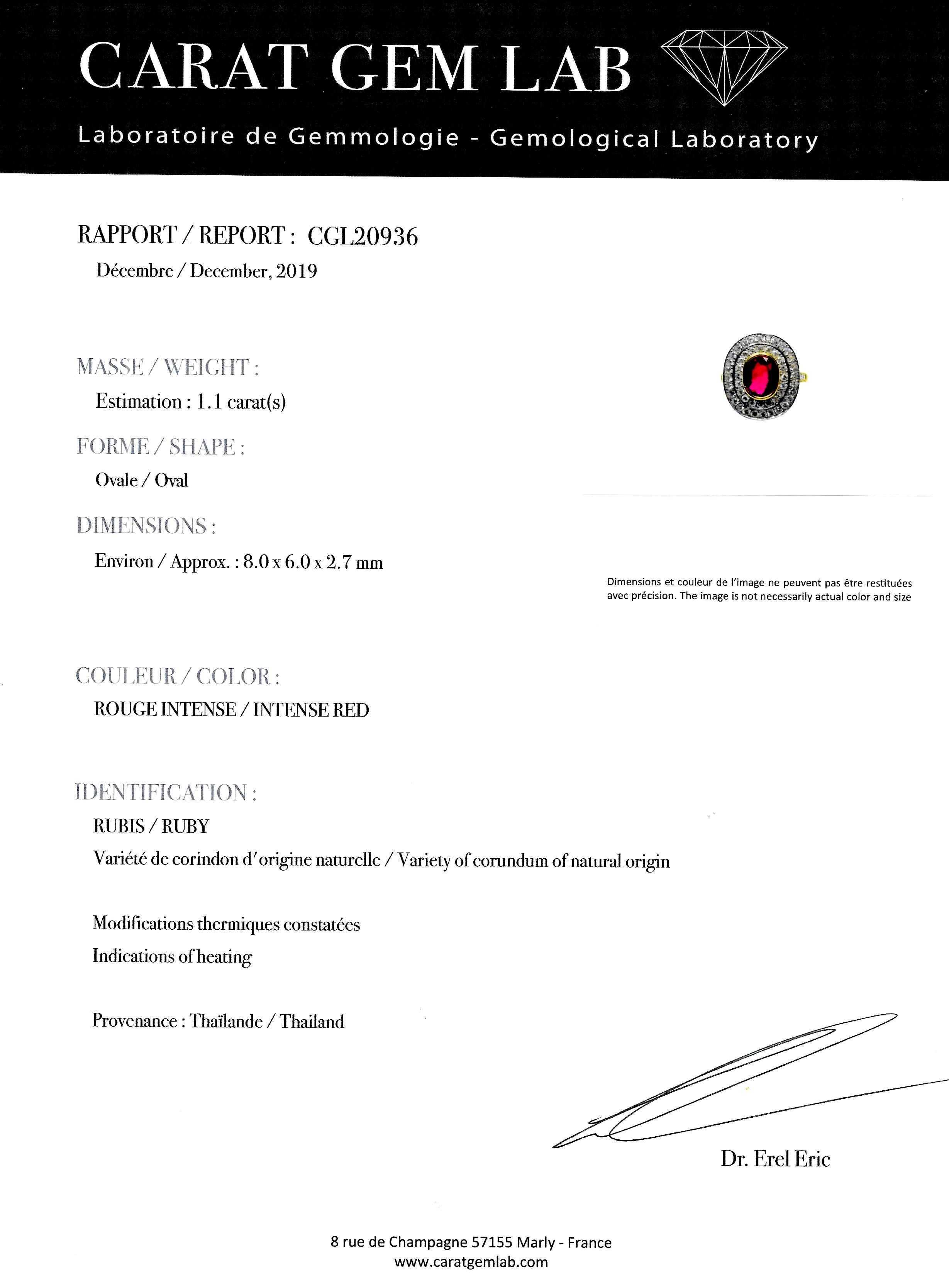 Bague Wolfers rubis (certificat CGL) diamants-3