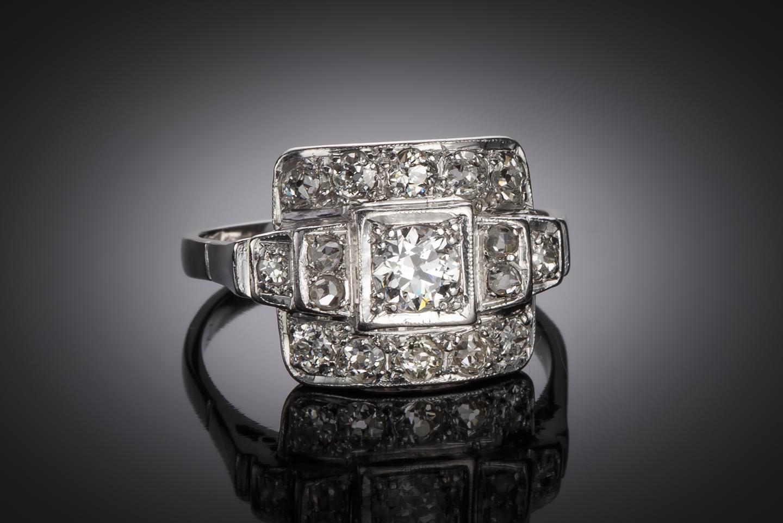 Bague diamants (1,20 carat) Art Déco-1
