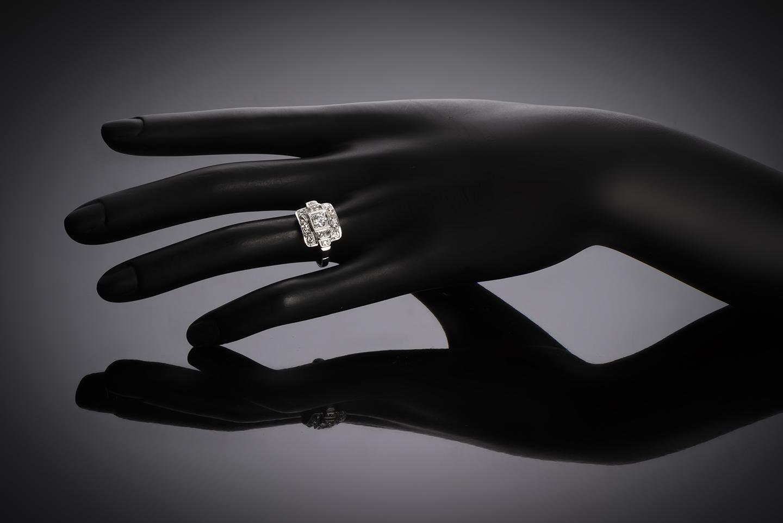 Bague diamants (1,20 carat) Art Déco-2