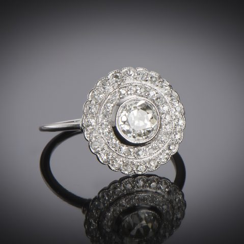 Bague Art Déco diamants (2,30 carats)