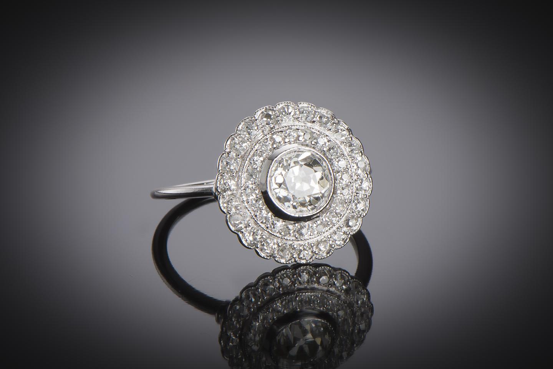 Bague Art Déco diamants (2,30 carats)-1