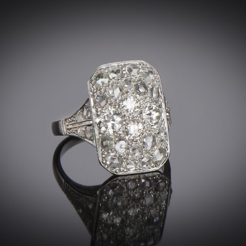 Bague Art Déco diamants (2 carats)