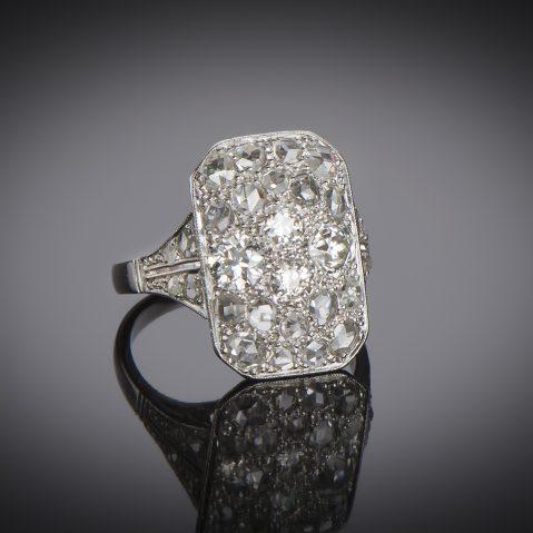 Bague Art Déco diamants (2 carats)