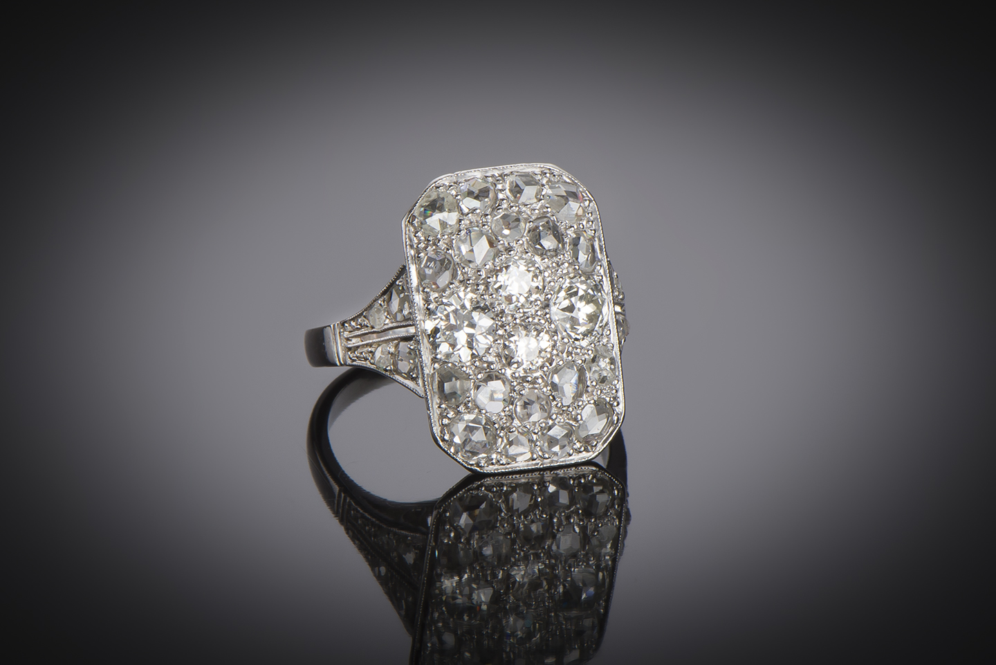 Bague Art Déco diamants (2 carats)-1