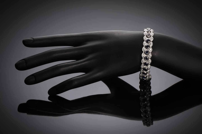 Bracelet saphirs diamants vers 1950-2