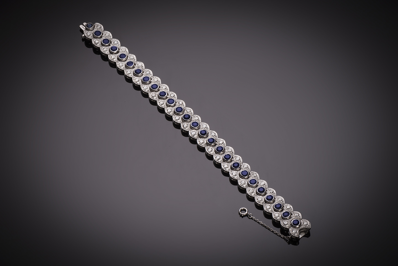 Bracelet saphirs diamants vers 1950-1