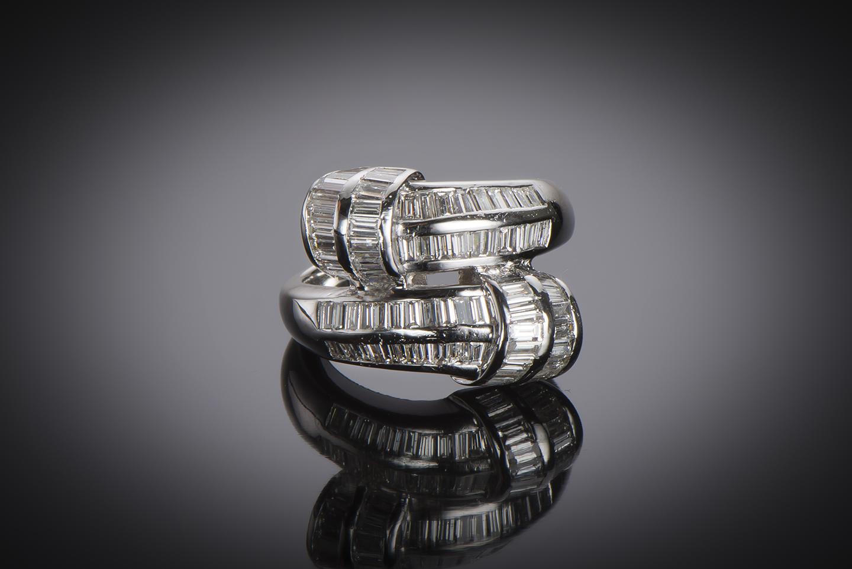 Bague diamants baguettes (3 carats)-1