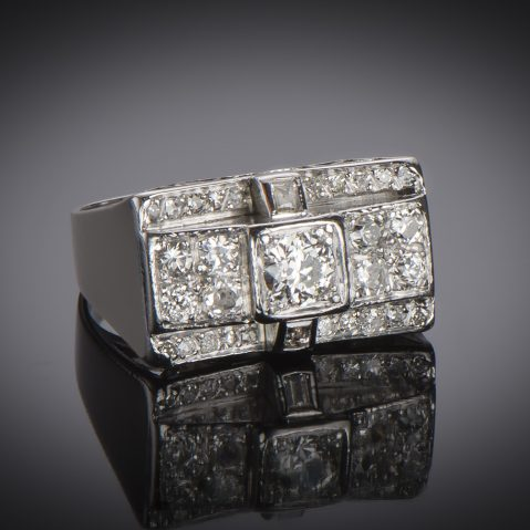 Bague vers 1935 diamants (1,50 carat)