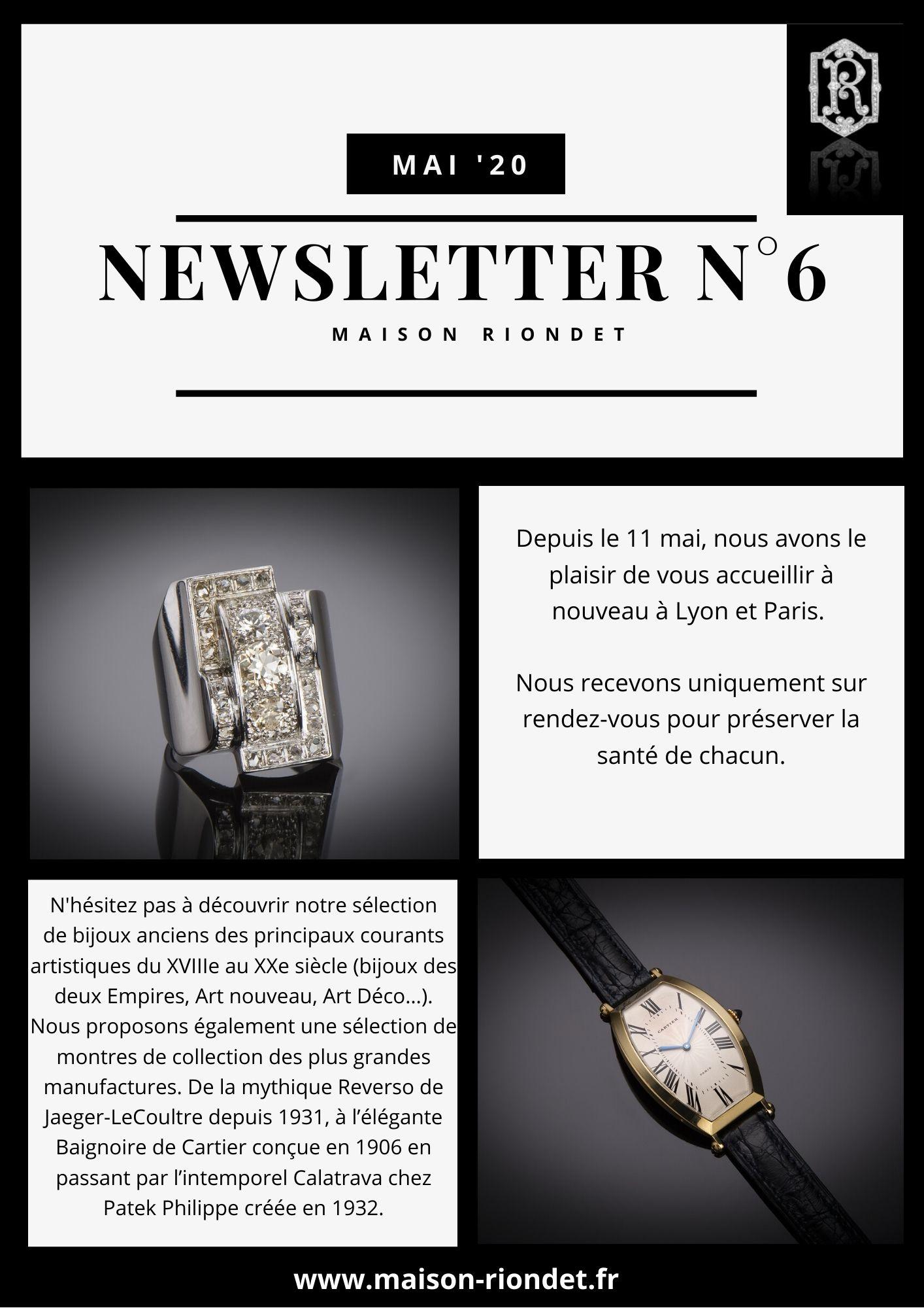 Newsletter Maison Riondet # 6 mai '20