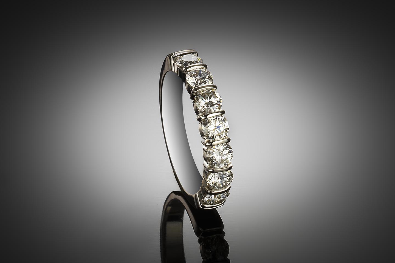 Demi-alliance diamants (D VS certificats HRD)-1