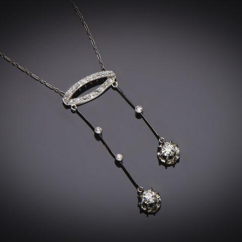 Collier dit négligé diamants Art Déco (vers 1930)