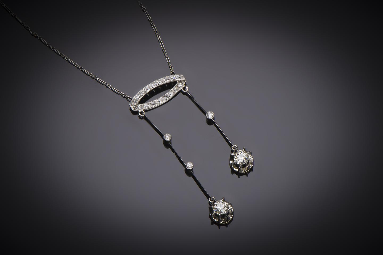 Collier dit négligé diamants Art Déco (vers 1930)-1