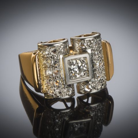 Bague diamants vers 1935