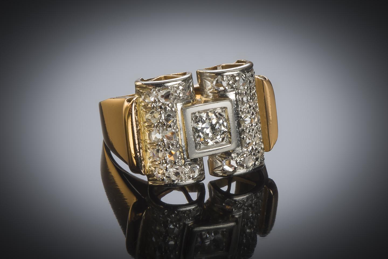Bague diamants vers 1935-1