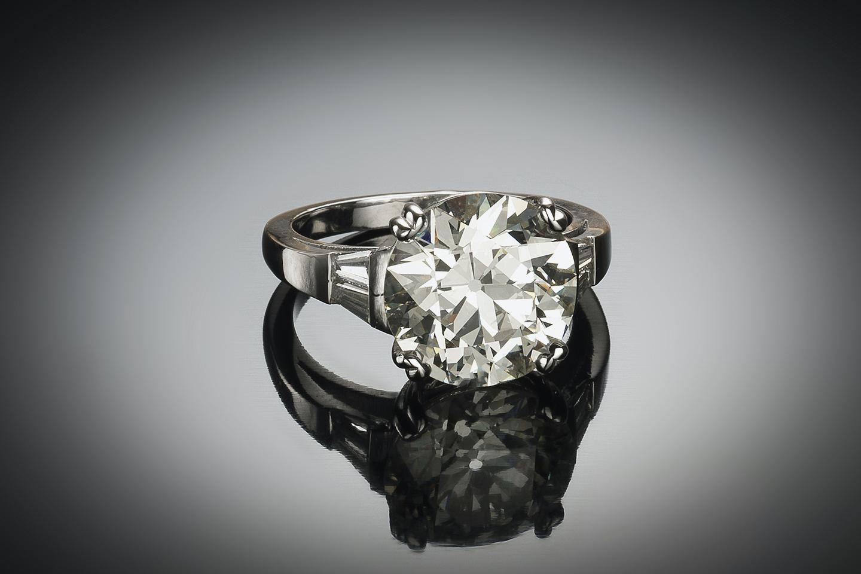 Solitaire diamant 6,24 carats (certificat LFG) platine-1