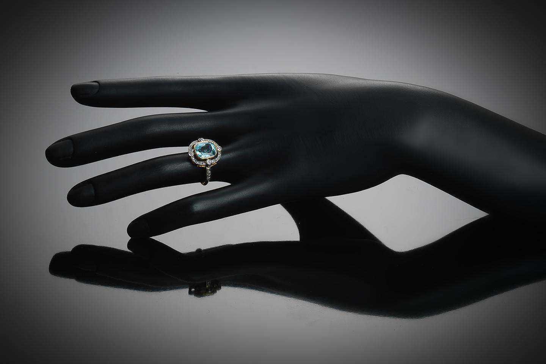 Bague aigue-marine diamants vers 1920-2