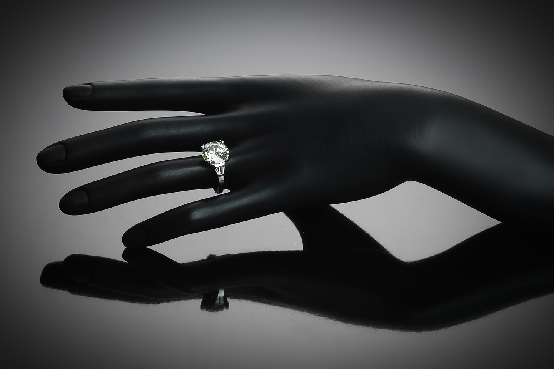 Solitaire diamant 6,24 carats (certificat LFG) platine-2