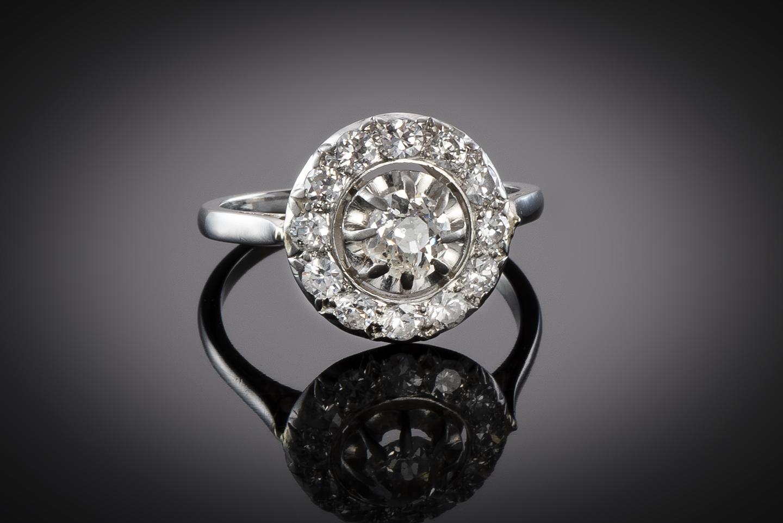 Bague diamants (1,10 carat) vers 1930-1
