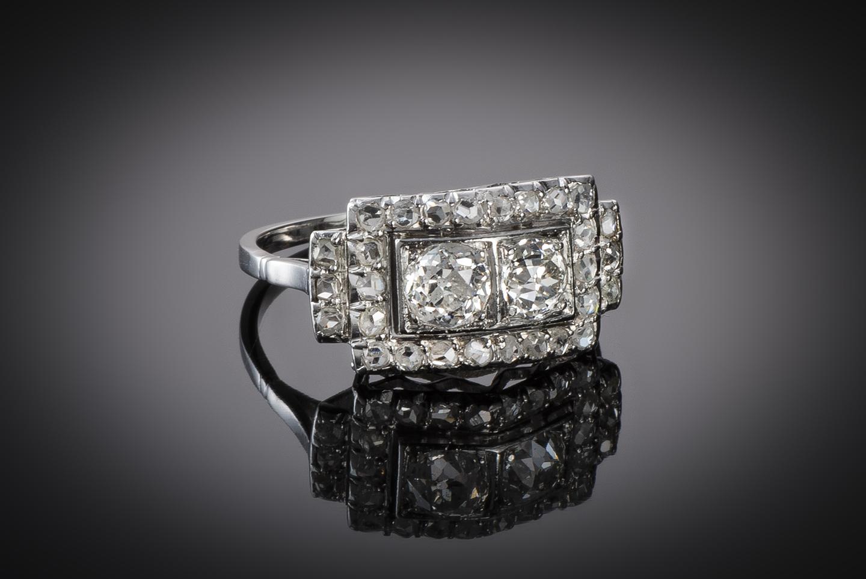 Bague diamants (1 carat) vers 1930-1