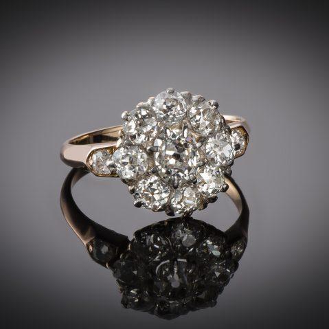 Bague fin XIXe siècle diamants (1,70 carat)