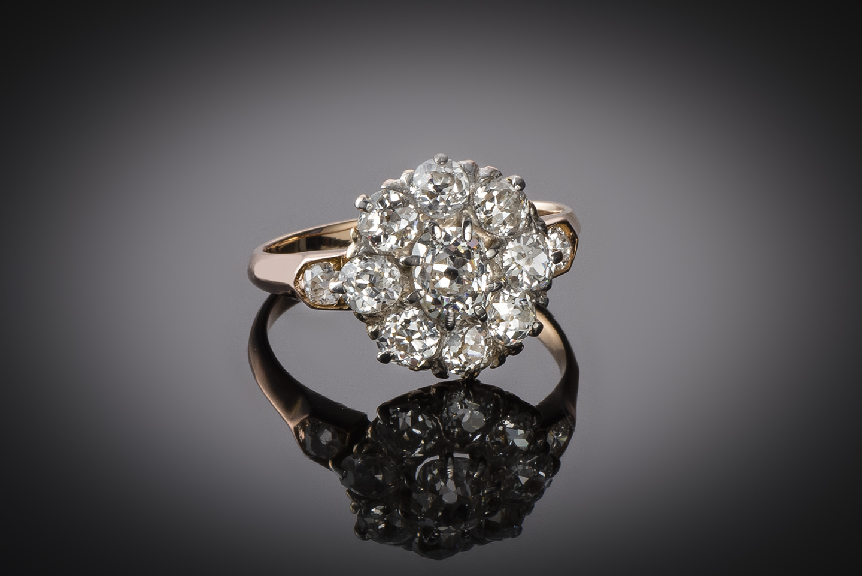Bague fin XIXe siècle diamants (1,70 carat)-1