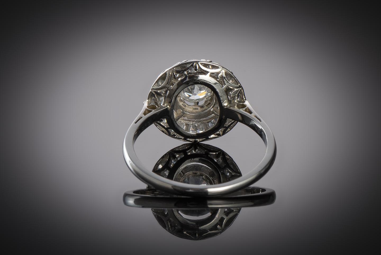 Bague diamants (1,10 carat) vers 1930-2