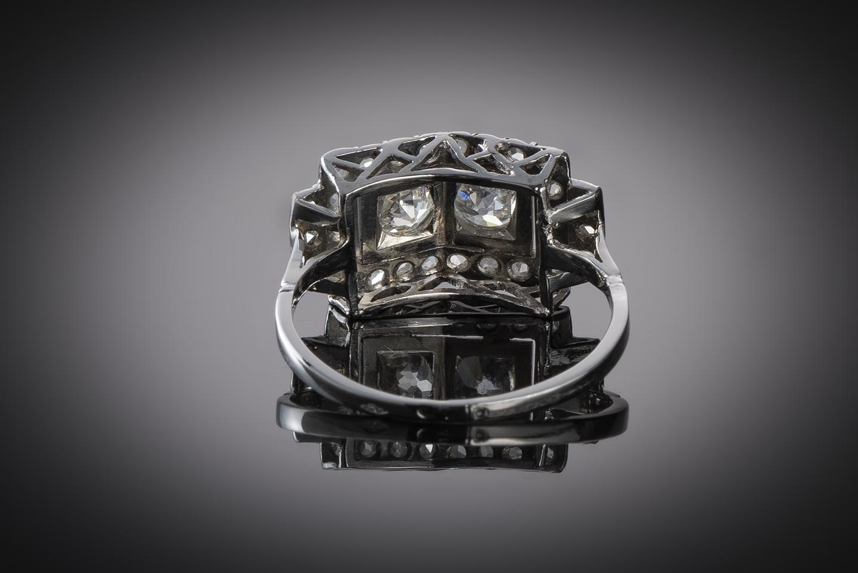 Bague diamants (1 carat) vers 1930-2