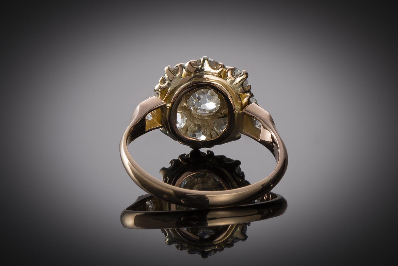 Bague fin XIXe siècle diamants (1,70 carat)-2