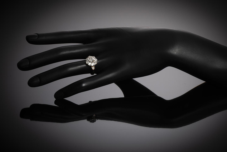 Bague fin XIXe siècle diamants (1,70 carat)-3