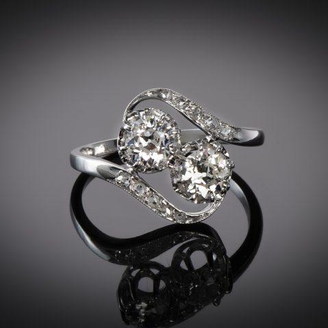 Bague « vous & moi » diamants vers 1920