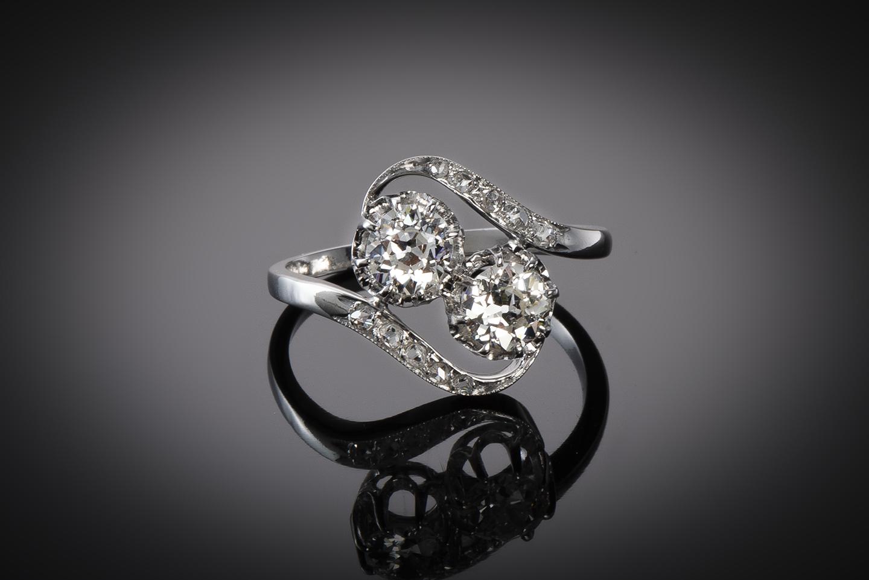 Bague « vous & moi » diamants vers 1920-1