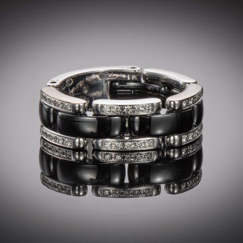 Bague Chanel céramique diamants
