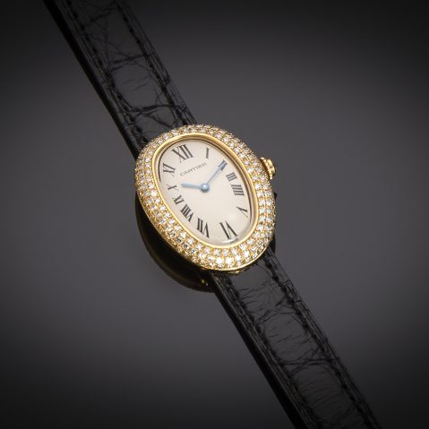 Montre Cartier Baignoire diamants