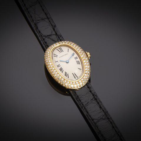Montre Cartier Baignoire diamants