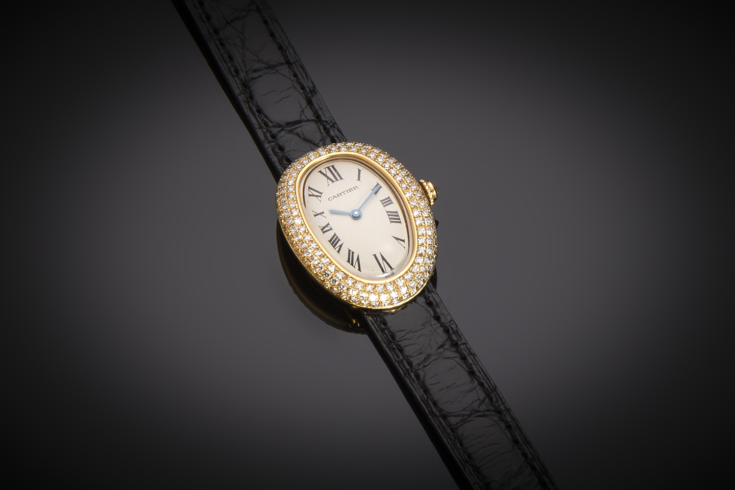 Montre Cartier Baignoire diamants-1