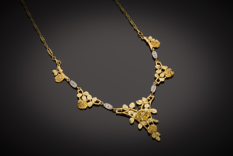 Collier Art nouveau diamants-1