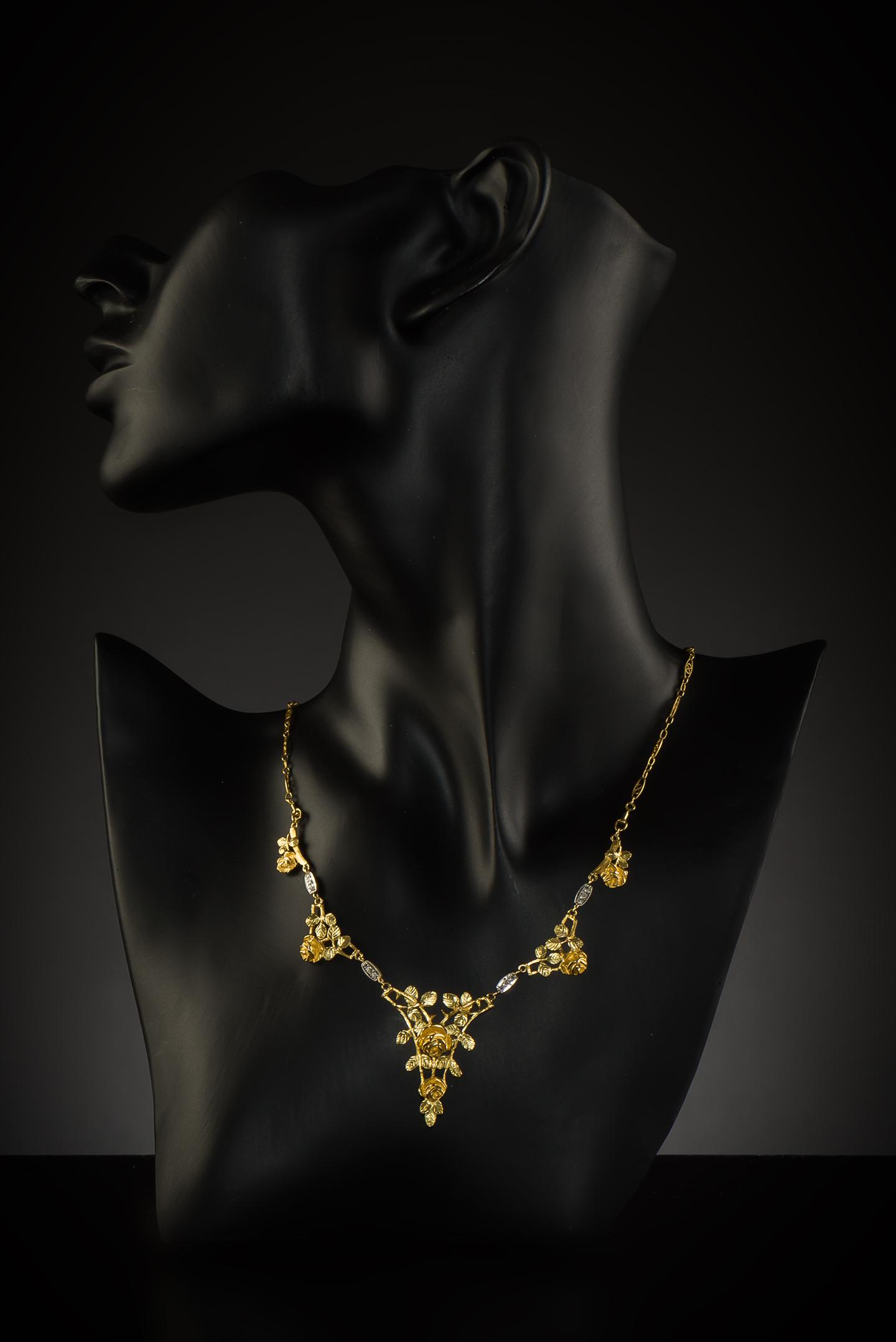 Collier Art nouveau diamants-2