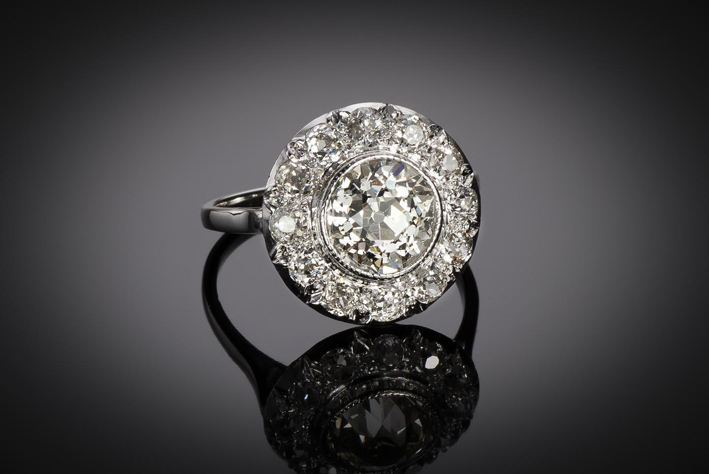 Bague Art Déco diamants (3,70 carats dont centre 2,31 carats)-1