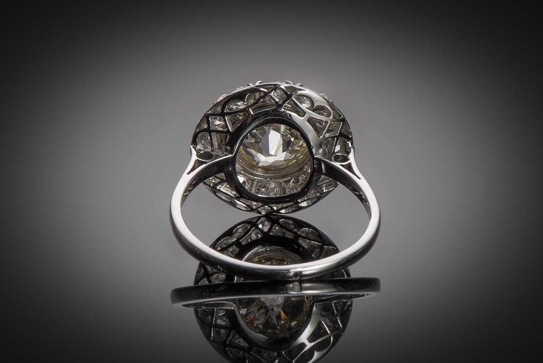 Bague Art Déco diamants (3,70 carats dont centre 2,31 carats)-2