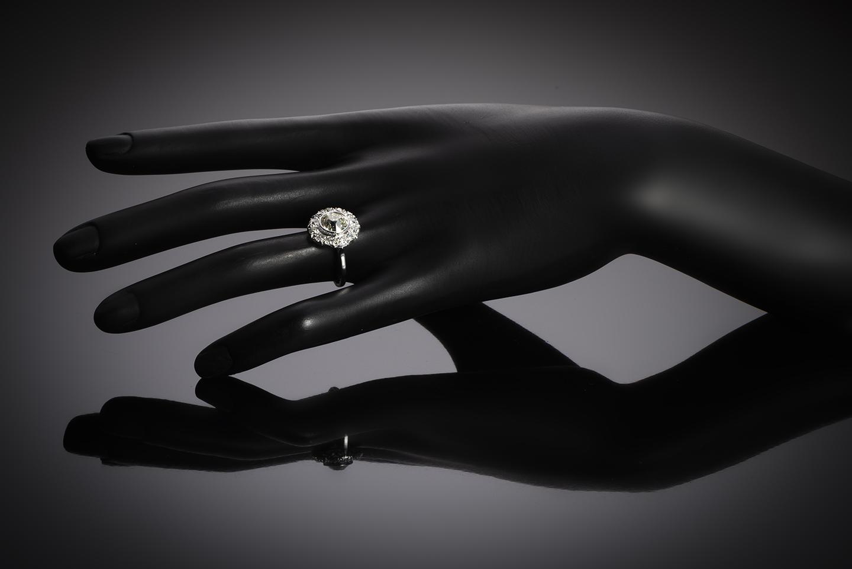 Bague Art Déco diamants (3,70 carats dont centre 2,31 carats)-3
