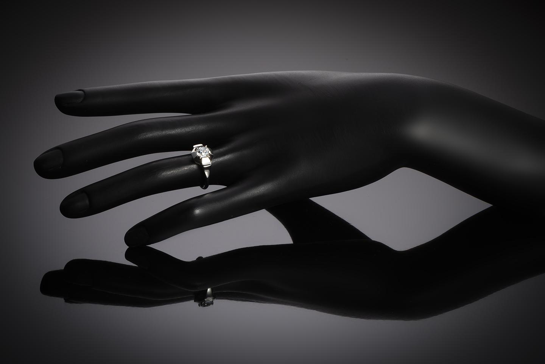 Solitaire diamant coussin taille ancienne 1,04 carat (certificat LFG – H VS2) Art Déco-2